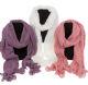 Ladies Frilled Ends Knitted Scarf Available in 3 Colours 49940